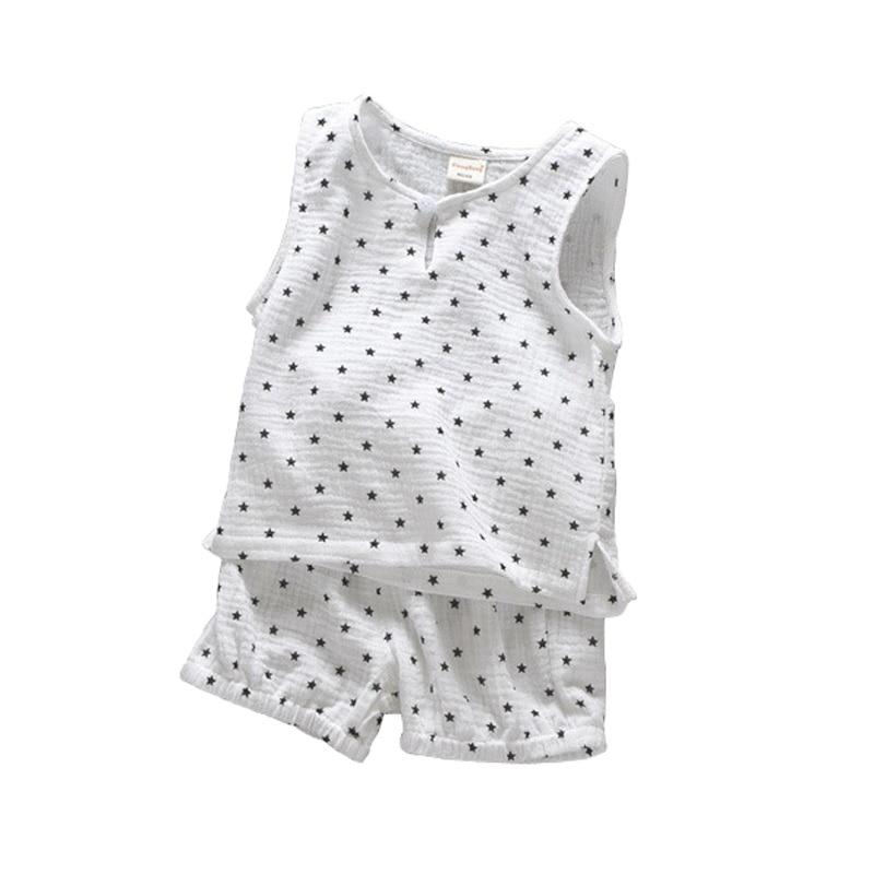 Todder Boys Suits Set Cotton Linen Summer Sleeveless Vest +Shorts 2pcs Suit Casual Children Set Baby Clothing BC146