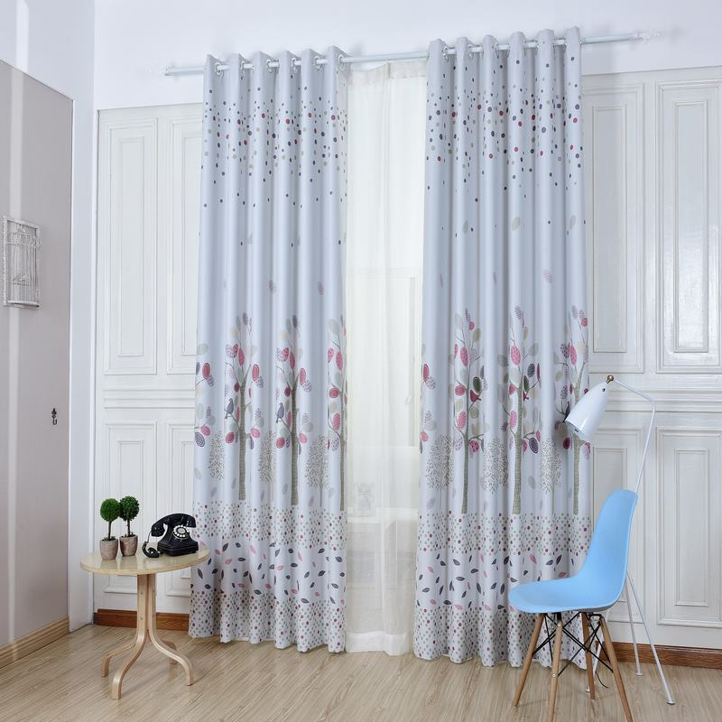 High End Small Floral Print High Blackout Rate Window