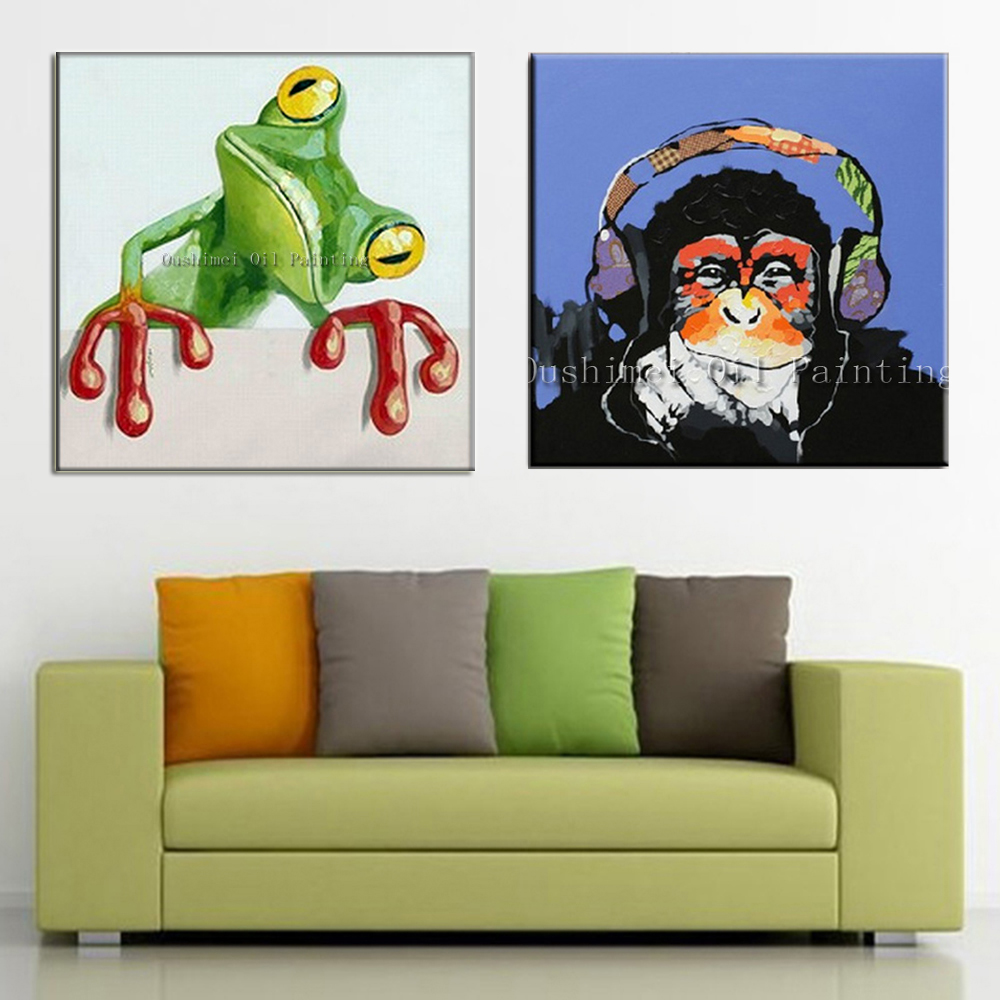 Oil Painting For Living Room Aliexpresscom Buy New Hand Painted Oil Painting Abstract Animal