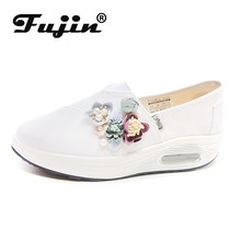 Fujin  Chunky Sneakers Designer Shoes White Dropshipping Moda Mujer 2019 Fashion Ladies Chaussures Femme Fleur