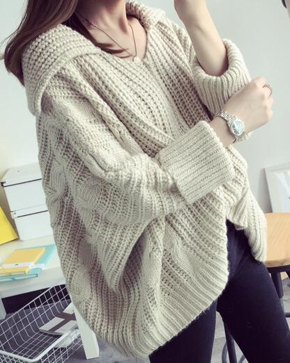Best Fashion - Womens Oversized Cable Knit Sweater