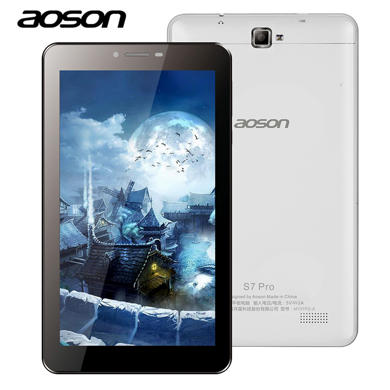Original 7 Inch Android 6.0 Aoson S7 Pro 3G 4G Phone Call Wifi Tablet PC IPS 1024*600 Quad Core 1GB RAM 8GB ROM 2MP/5MP OTG GPS knc md716e 7 ips rk3188 android 4 4 quad core tablet pc w 1gb ram 8gb rom white