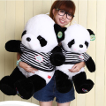 50 cm Colorful panda Bow tie Stuffed plush Animal Shape Pillow Baby Toys child Toys cartoon bear doll birthday gift