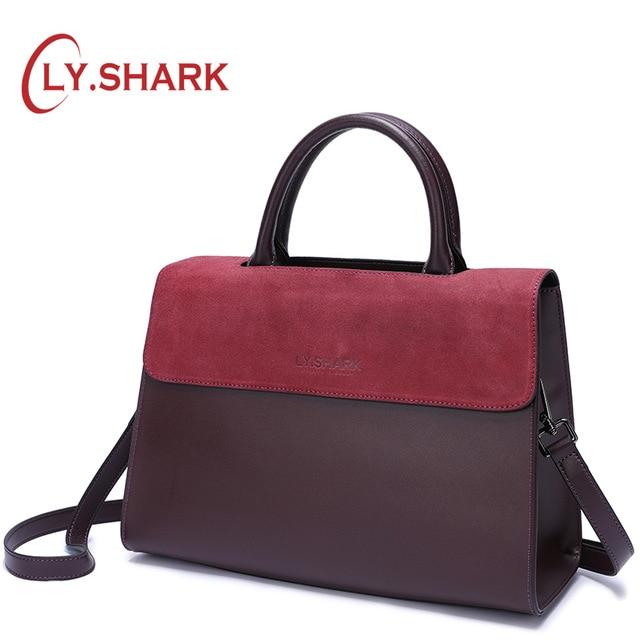 LY SHARK famous brand female bags women handbag women shoulder bag ladies genuine leather crossbody bags