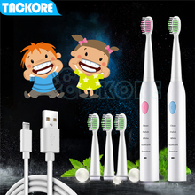 Tackore Kid Electric Toothbrush USB Charge Children Tooth Brush electric toothbrush Rechargeable Sonic Ultrasonic