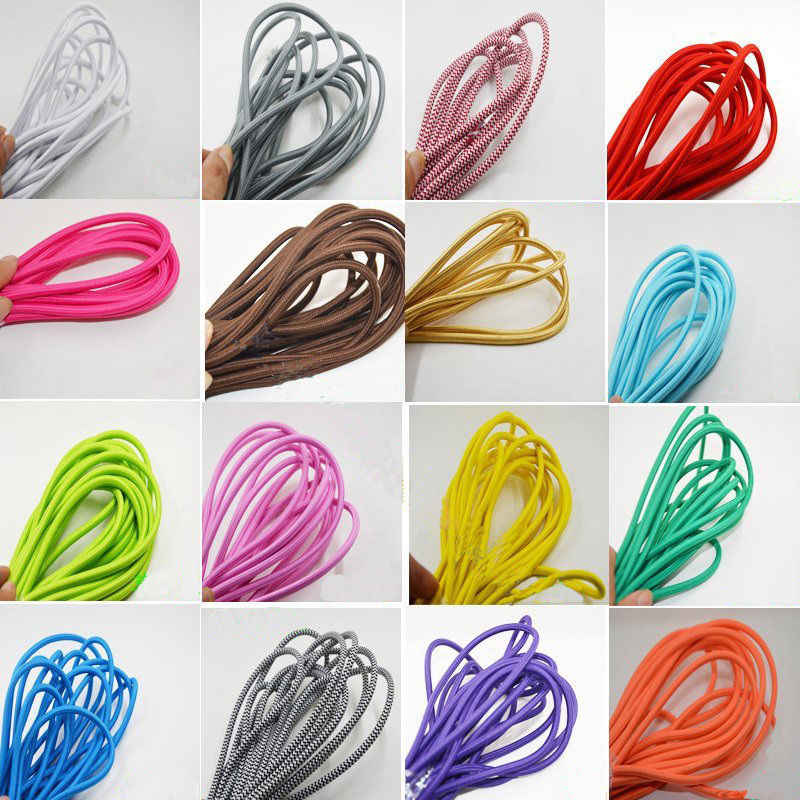 8M Fabric Cable Cord Vintage Pendant Light Electrical Wire Twist Braided Retro Textile Electric Wire lamp Woven Braided Cables