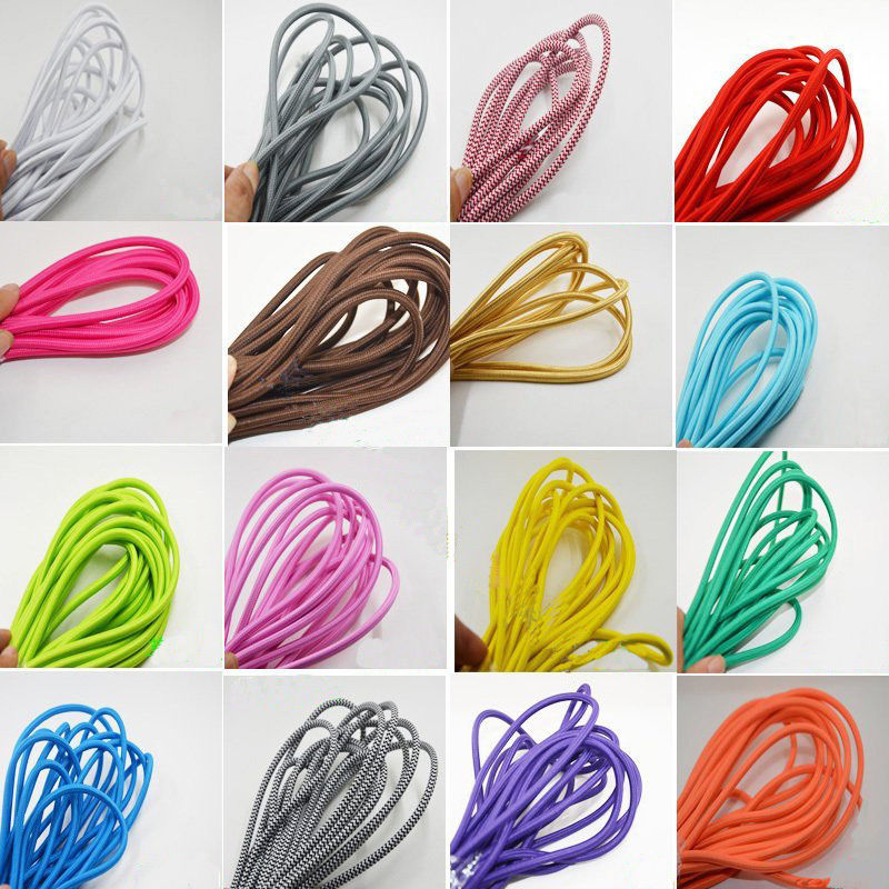 8M Fabric Cable Cord Vintage Pendant Light Electrical Wire Twist Braided Retro Textile Electric Wire lamp Woven Braided Cables textile creations 1336 rustic woven fabric small