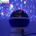 LemonBest New Romantic New Rotating Star Projector Moon Sky Rotation Night Light Lamp Projection with high quality Kids Bed Lamp