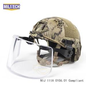 Image 5 - MILITECH NIJ IIIA 3A Bulletproof Vizier voor PASGT ACH SNELLE Picatinny Schold Helm Ballistische Vizier Voor Tactical Rail Helmen