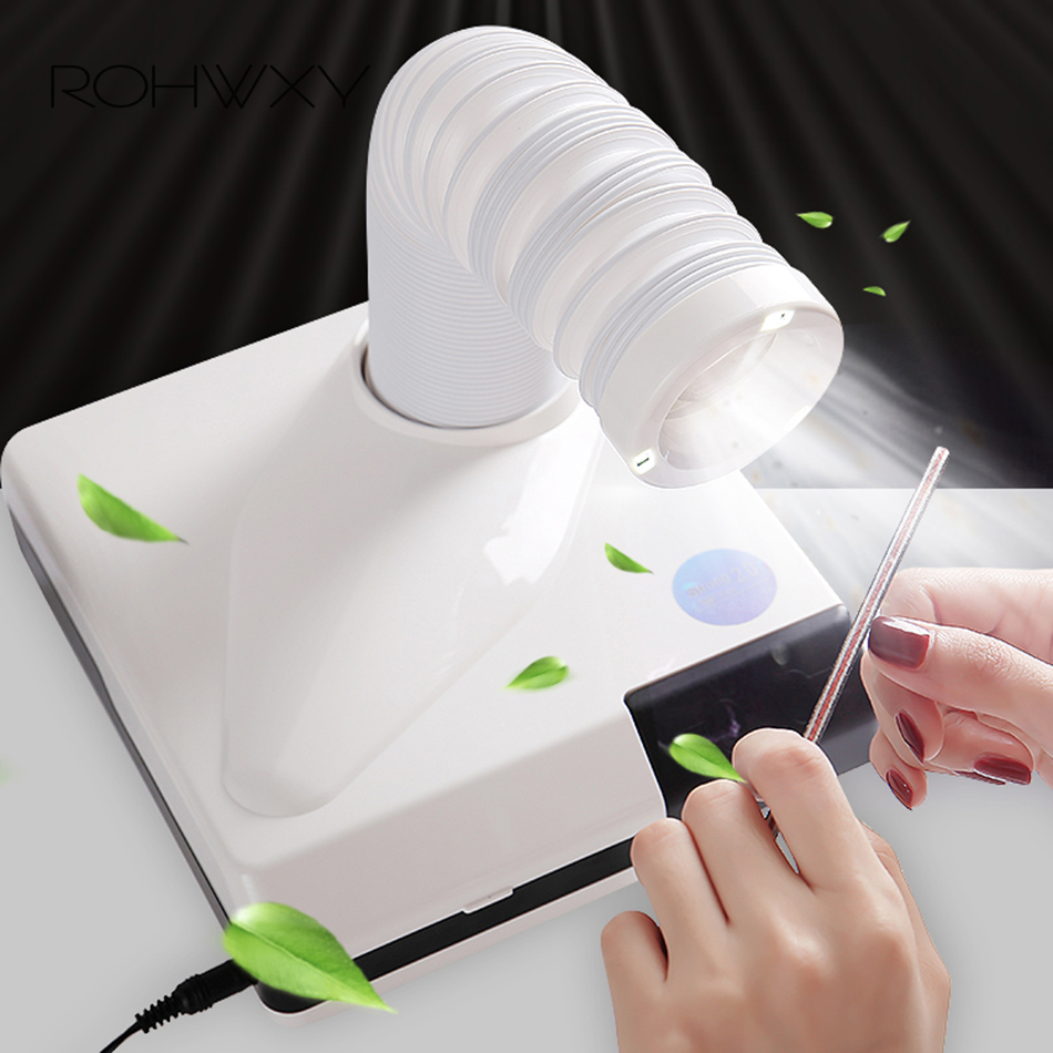 ROHWXY Vacuum Cleaner For Nail Art Manicure Table Machine Nail Suction Dust Collector Extractor Fan For Manicure Nail Salon Tool