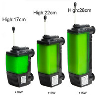 Aquarium Filter Submarine Style Low Water Filter 3 In 1 Oxygen Water Circulation Pump For Turtle Fish Tank