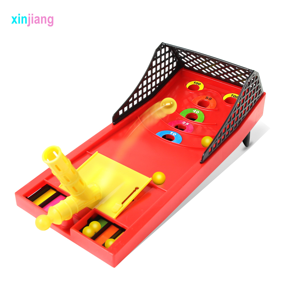 Mini Ball Shooting Game Toys Finger Catapult Game Sports Desktop Game Montessori Toys Funny Parents-child Game }