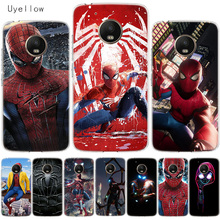 Uyellow Spiderman Marvel Phone Cover For Motorola G4 G5 G5S G6 G7 E4 E5 Plus Play Case Moto Power Silicone Soft TPU Coque