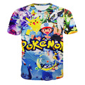 2016 Brand Clothing Pokemon 3D T shirt 3d Printed O-Neck T Shirt Men New Arrival Fashion Hip Hop Men's Short Sleeve tshirt homme