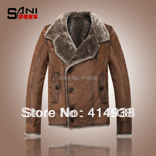 2017 Fashion Australia Sheepskin Wool One Piece Double Layer Genuine Leather Cowhide Thickening Clothing Outerwear Jacket Coats