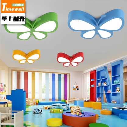 CM059led cartoon butterfly children ceiling lamp modern simple warm bedroom lamp boys and girls lamps children s room lamp ceiling lamp led cartoon boy girl warm and lanterns simple eyes princess stars moon bedroom lamps