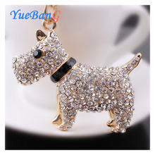 YueBanG jewelry,Free shipping,Dog draws oil key chain,factory direct sale, ready to accept orders.Animal key chain.Full drill.