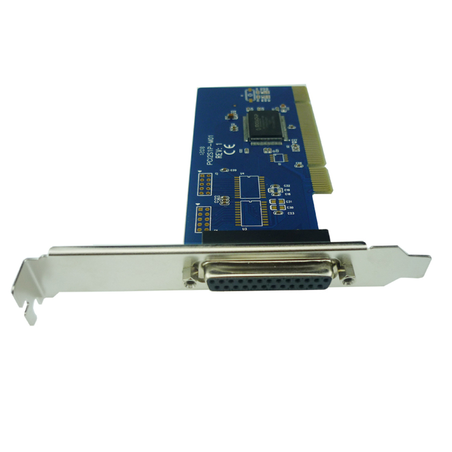PCI To 1 Port Parallel Card DB25 Pin LPT Printer Adapter MCS9805 Chipset PCI00602