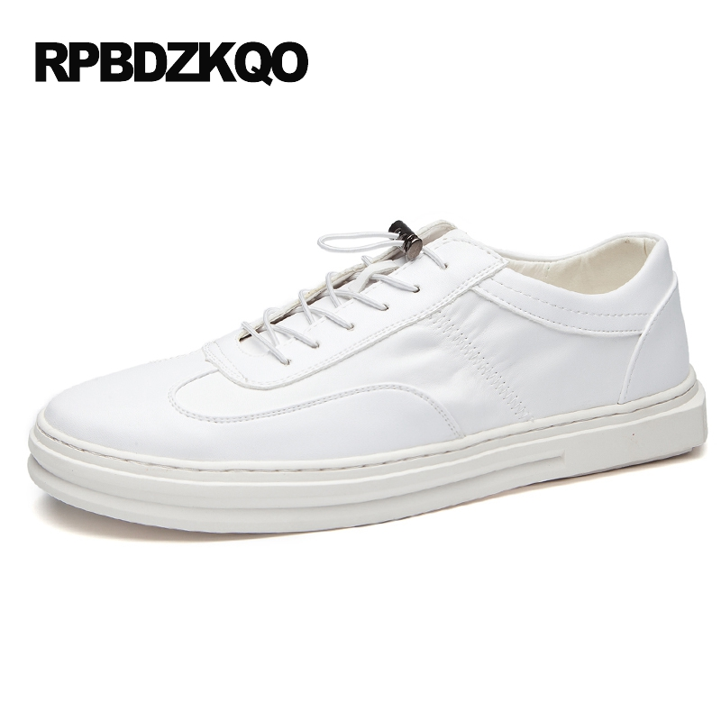 2017 Lace Up Skate Boys Breathable Hollow Out Shoes Men Comfort White Hip Hop Elevator Casual Platform Popular Fashion Hot Sale