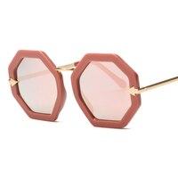 2016 Newest Unique Hexagon Arrow Frame Mirror Sunglasses Cosy Shades Men Women Brand Designer Eyewear Sun