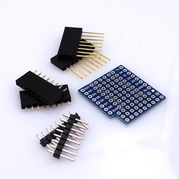 10PCS/LOT ProtoBoard Shield for WeMos D1 mini double sided perf board Compatible