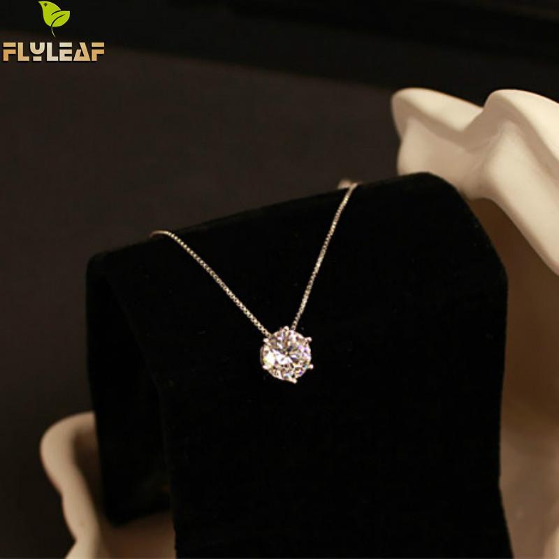 Форзаце 925 стерлингов Серебряные ожерелья и Подвески для Для женщин модные женские кубический цирконий, ювелирные Интимные аксессуары