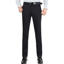 Мужской костюм брюки Простой Досуг зима высокого качества Роскошный деловой джентльмен черные брюки большого размера 30-42