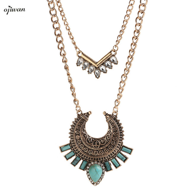 2be70f46021d Multi Layered Necklace Hippie Indian Native American Jewelry Navajo Tribal  Necklace Hippie Boho Chic Online Shopping India
