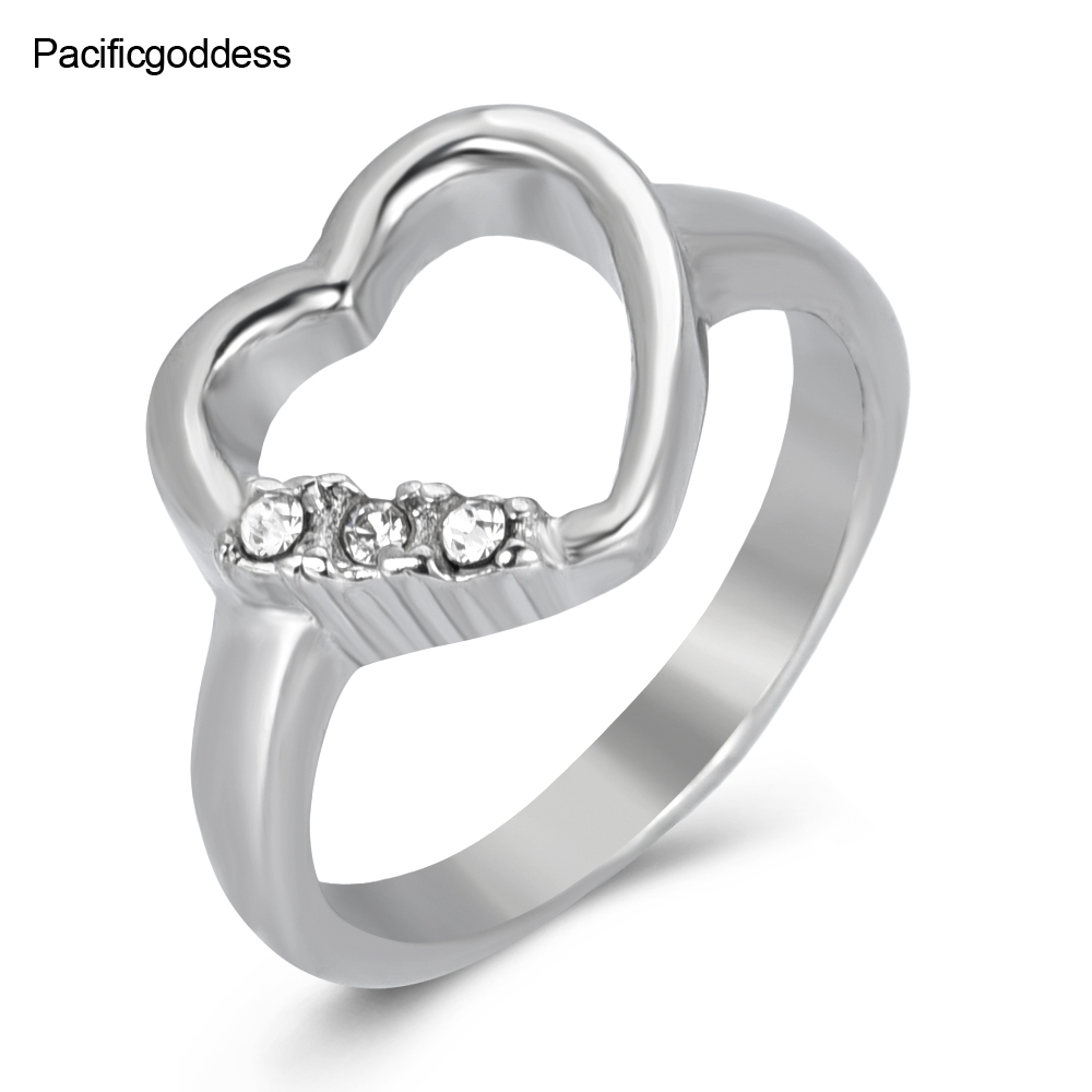 heart ring crown shape for wedding engagement rings unisex gifts