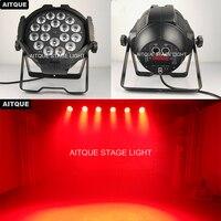 8pcs Disco light par led 18x18w par led rgbwa uv slim led flat par light dj equipment