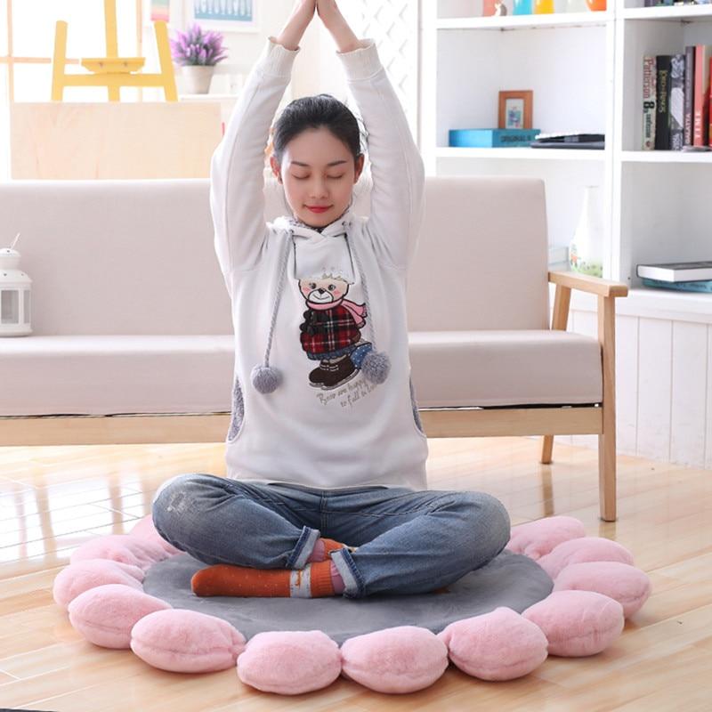 110 cm une pièce Kawaii tournesol jouet Yoga exercices coussin dessin animé coton en peluche canapé coussins poupées créatives