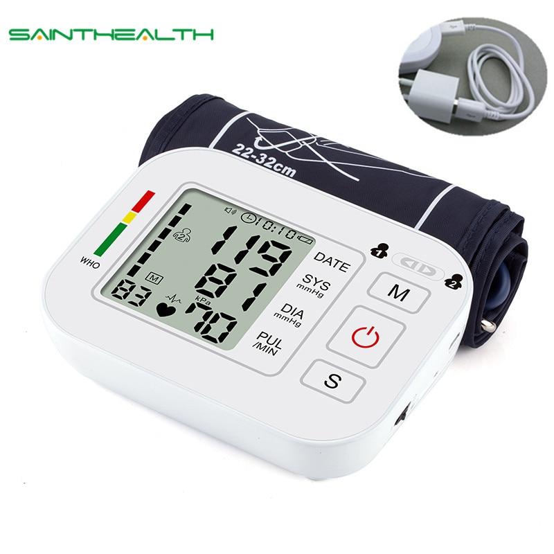 Medical Equipment Tonometer Digital Upper Arm Tensioner Blood Pressure Monitor Measurement Meter Device BP Meter For Measuring