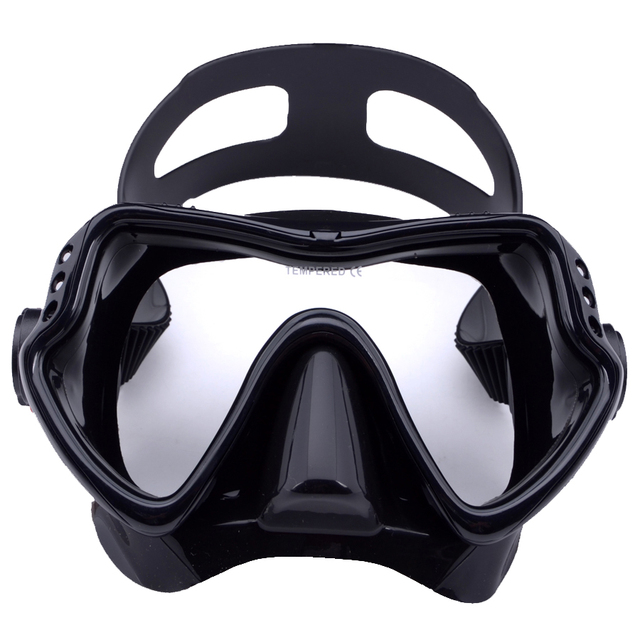 High quality scuba diving mask with Tempered glass,Silicon Professional Freediving,
