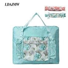 Bolso grande de compras de viaje LDAJMW, bolsa de almacenamiento organizadora, bolsa organizadora de cosméticos, bolsa de viaje para equipaje