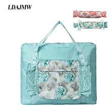 LDAJMW Tote/Shoulder Travel Shopping Big Bag Folding Clothes Storage Pouch Organizer Cosmetics Luggage
