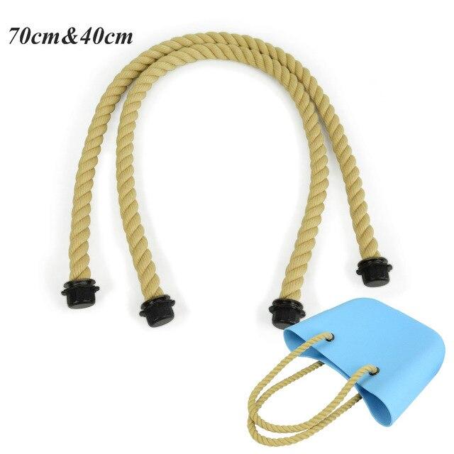 1 pair long and short size rope handles for Obag AMbag women's bags hemp shoulder bag handbag taping obag handle long size