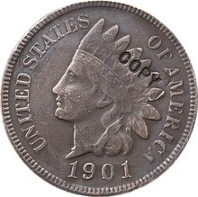 1901 Indian head cents coin copy(China)