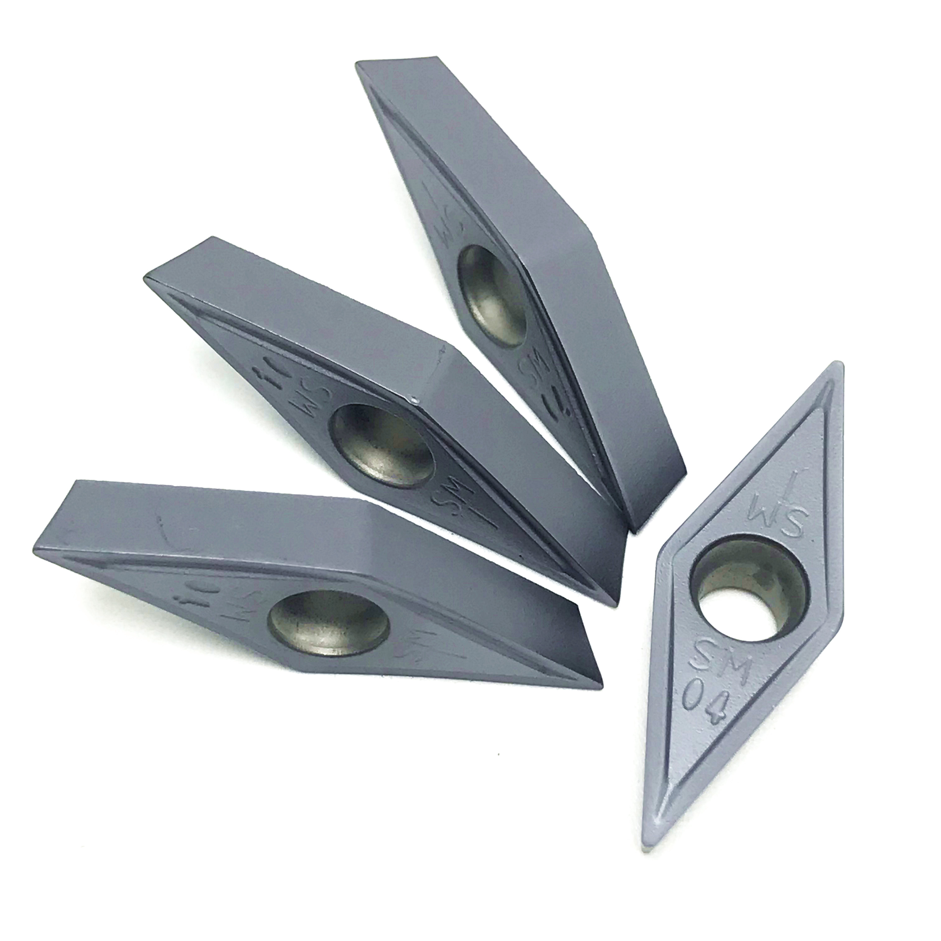 Tungsten Carbide VCMT160408 SM IC907/908 External Turning Tools Carbide insert Lathe cutter Tool <font><b>vcmt</b></font> <font><b>160404</b></font> CVD turning insert image