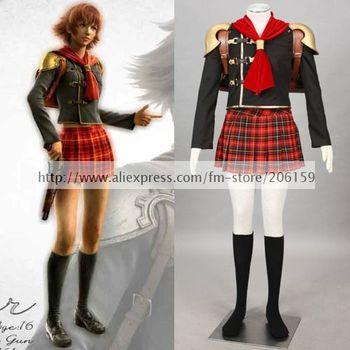 Аниме Final Fantasy Type 0; Костюм для косплея; Женская одежда на Хэллоуин; Одежда с анимацией; Комплекты одежды; Пальто высокого качества