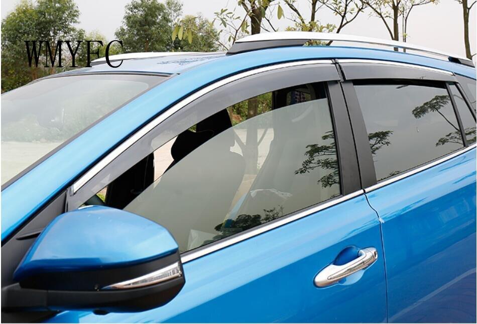 Pour Toyota RAV4 fenêtre soleil pluie visières Super Vent ombre déflecteur garde bouclier 4 pièces 2016 2017 2018