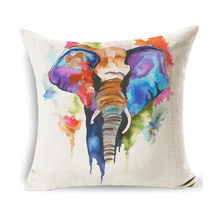 Cushion Cover Dog Lovely Elephan Pattern Cotton Linen Valentine Pillow Covers Decorative Pillowcase Jojo Siwa Kussenhoesjes недорого