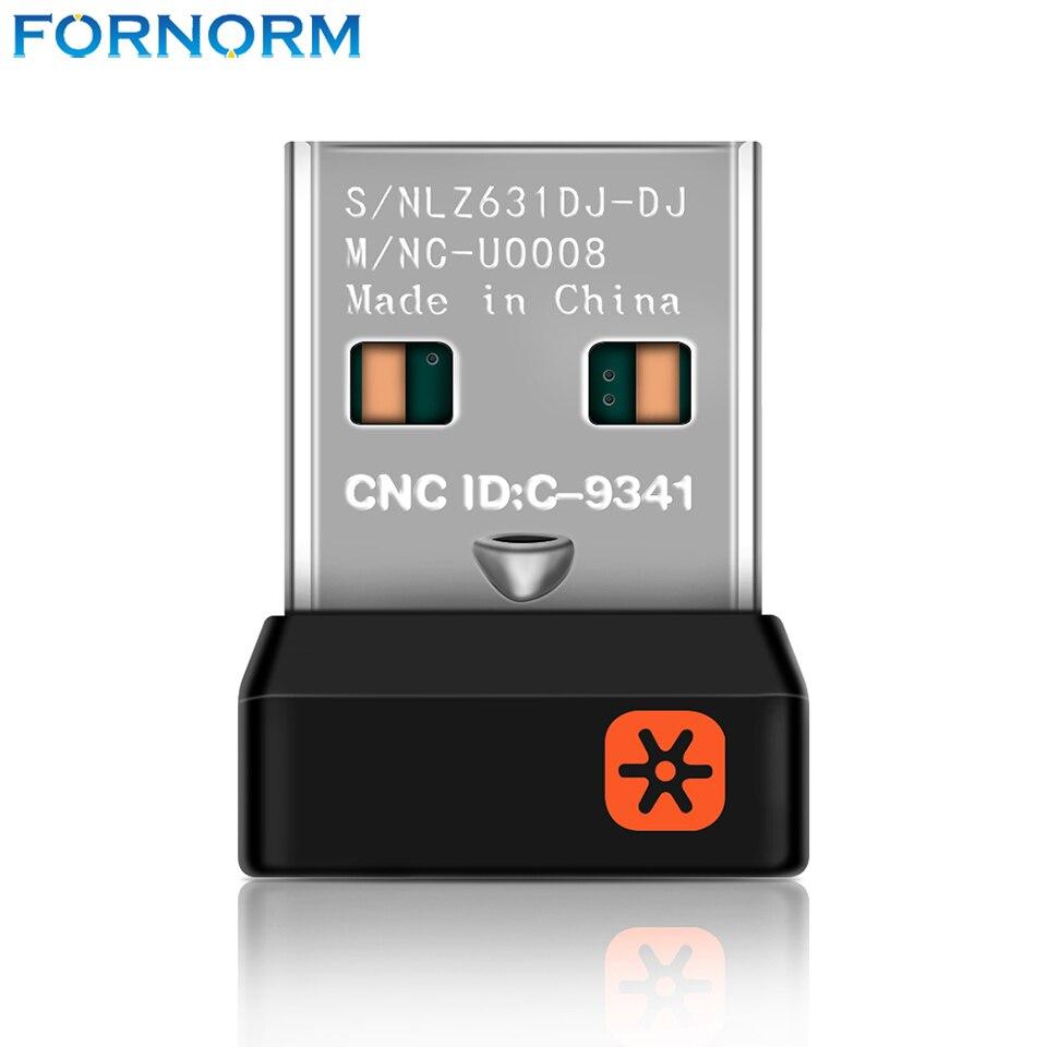 Fornorm Wireless Dongle Empfänger für Logitech Unifying Drahtlose Tastatur M215 M235 M325 M545 M705 6 Kanal USB Adapter