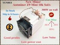 Новый зедкэш Майнер Antminer Z9 мини 10 k Sol/s 300 W Asic Equihash Miner добыча из мультфильма «Холодное сердце» ЗХ BTG, низкая Мощность стоимость, высокая прибыл