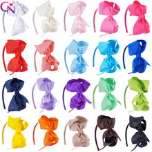 """20 części/partia 4 """"kokardy do włosów Hairbands dla dzieci dziewczyny Handmade zwykły wstążka węzeł łuki satynowe opaski opaski do włosów akcesoria do włosów"""