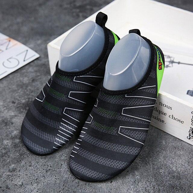 72277af188ff Summer Water Shoes Men Slip On Comfortable Thin Bottom Men Aqua Shoes  Classic Black Couple Fitness Shoes Seaside Walking Shoess