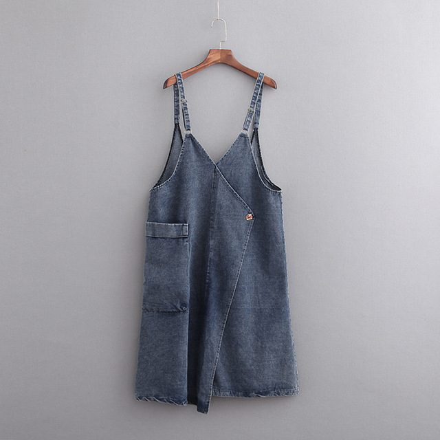 A0 Summer Casual Overalls Dresses 5x Plus Size Women Clothing