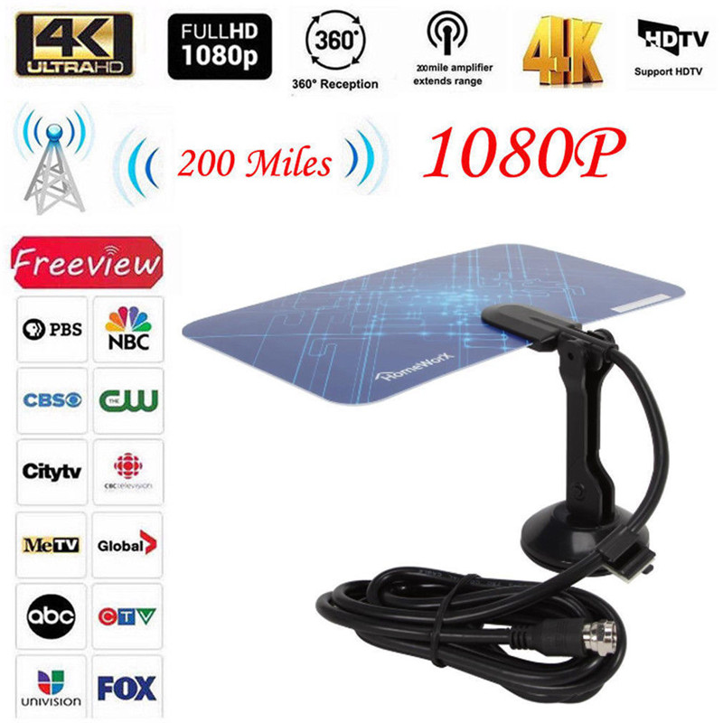Image 4 - PYMH 300 Mile Range Indoor Antenna TV Digital HD Skywire Digital HDTV 1080p Antenna-in Communications Antennas from Cellphones & Telecommunications