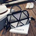 Women's fashion Joining together sequins handbag European and American style rivet vintage bag Ms temperament joker small bag