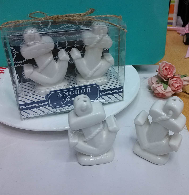 20pcs 10sets Lot Anchors Away Ceramic Anchor Salt And Pepper Shakers Ocean Themed Wedding Return Gifts In Party Favors From Home Garden On Aliexpress