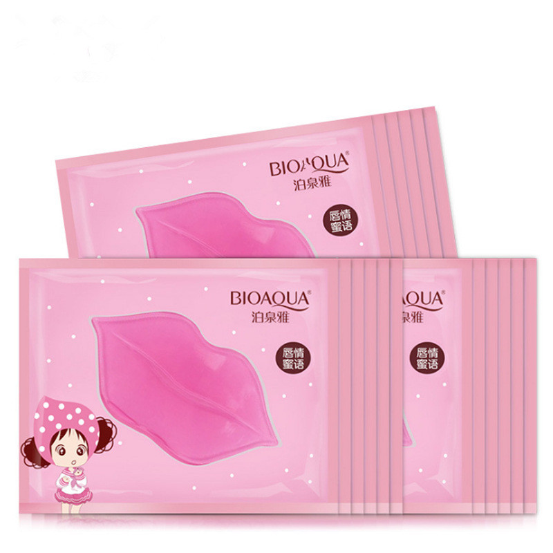 8pcs/lot New Women Crystal Collagen Lip Mask Pads Moisture Essence Anti Ageing Wrinkle Patch Pad Gel Lip Care Dilute Lip Color
